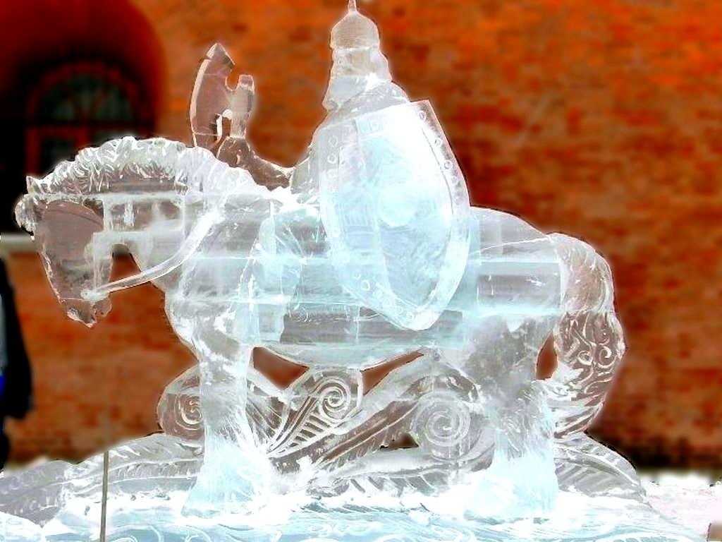 Ледовая скульптура на юбилей