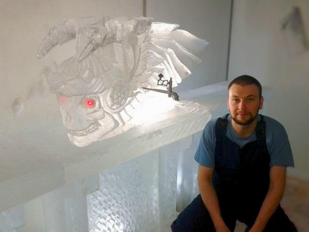 Изготовление скульптур из льда