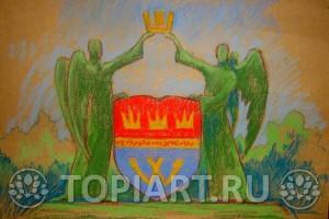 эскиз зеленых фигур www,topiart.ru