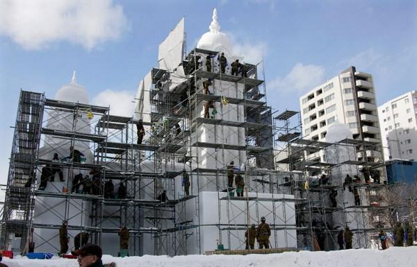 Фестиваль ледовых скульптур в Саппоро Япония
