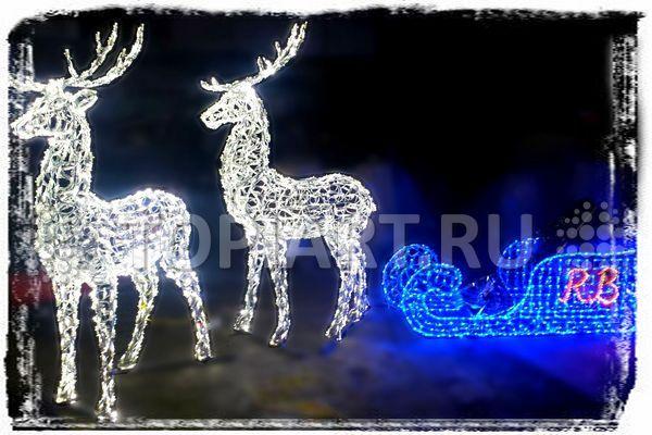 светодиодная фигура олень